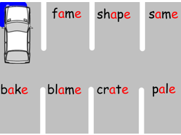 Fun Phonics a_e split digraph park the car game. Interactive Whiteboard
