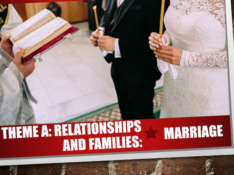 AQA Theme A Relationships and Families 4: Marriage