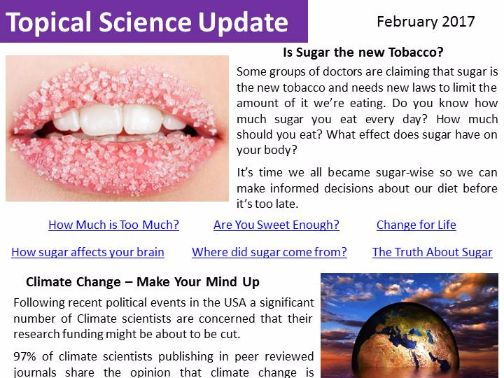 Topical Science Update - February 2017