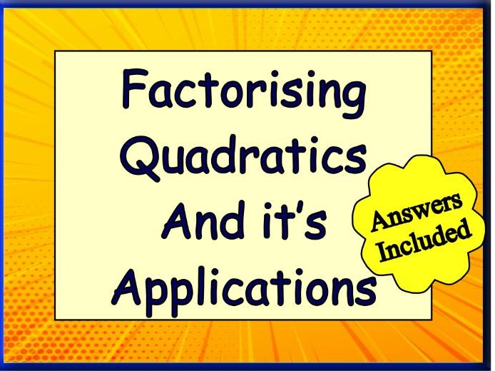 Factorising Quadratics - Over 180 Questions with Answers