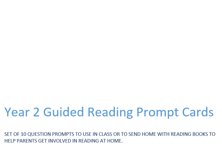 AF3 Guided Reading Prompt Fans