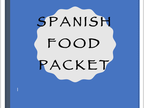 Spanish Food Activities Packet