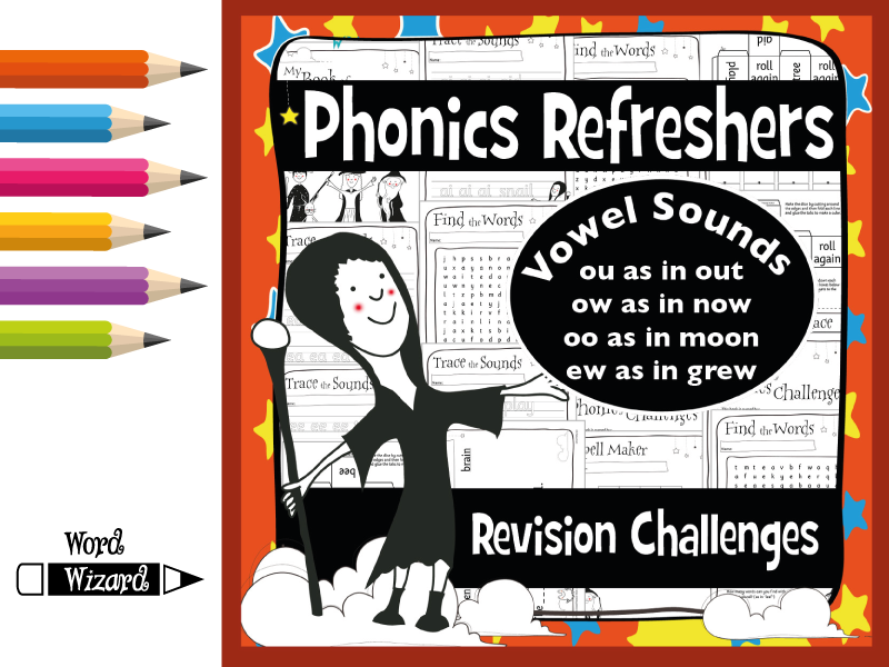 Phonics Refresher Vowels 4: ou, ow, oo, ew