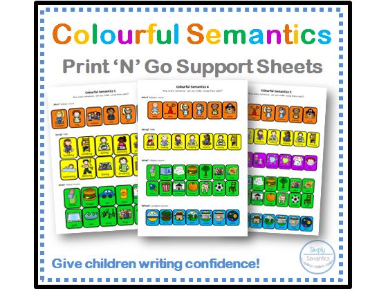 Colourful Semantics: print and go sheets