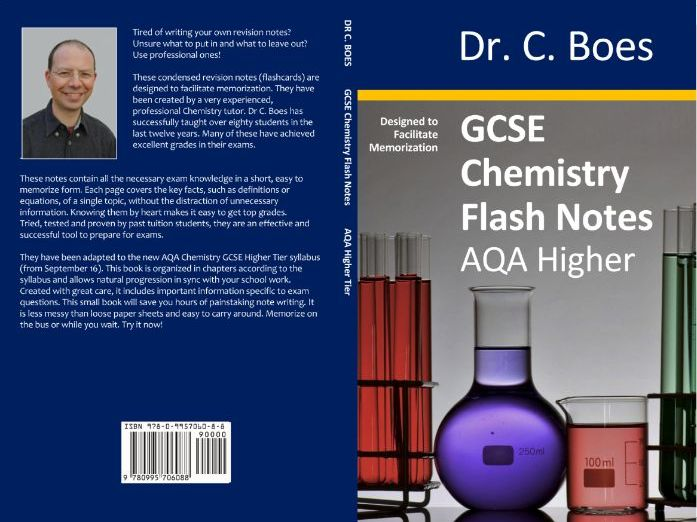 SAMPLE: AQA GCSE Chemistry Condensed Revision Notes (Flashcards) Higher Tier (9-1)