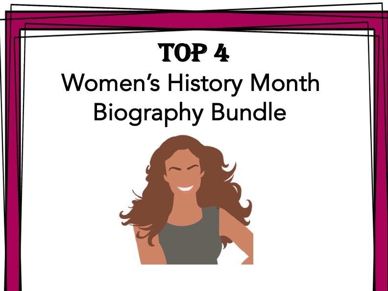 Women's History Month Top 4 Spanish Biographies @30% off! (Latinas/Hispanas)