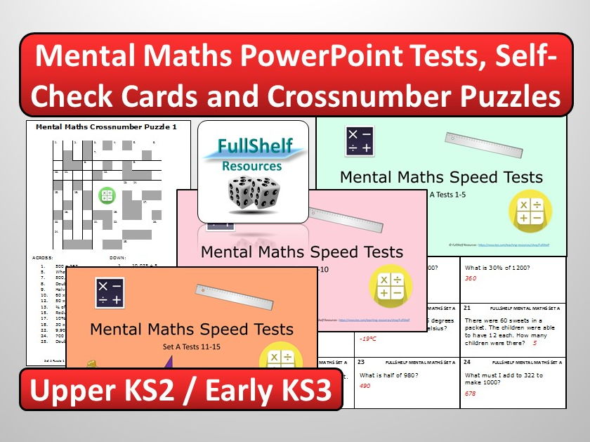 Mental Maths Bundle Year 5 / 6
