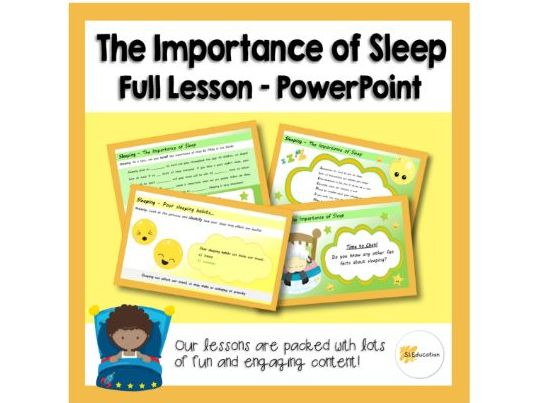 The Importance of Sleep | PPT | Full Lesson | Download and Go! | KS1 | PSHE