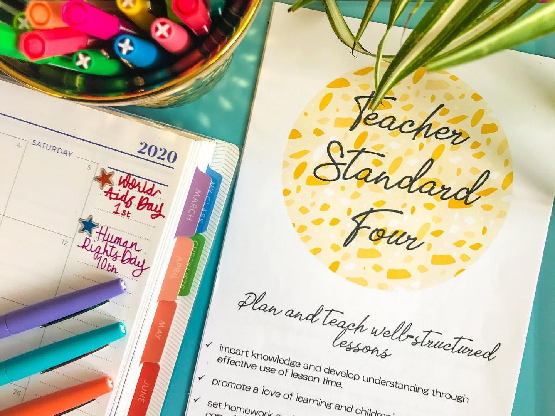 Teacher Standards Folder Dividers (PGCE/NQT)