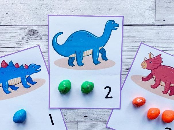 Dinosaur Counting Cards 1-10