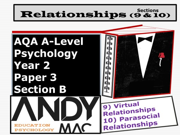 AQA A-Level Psychology: Year 2 Relationships Module. #9 Virtual Relationships  #10 Parasocial
