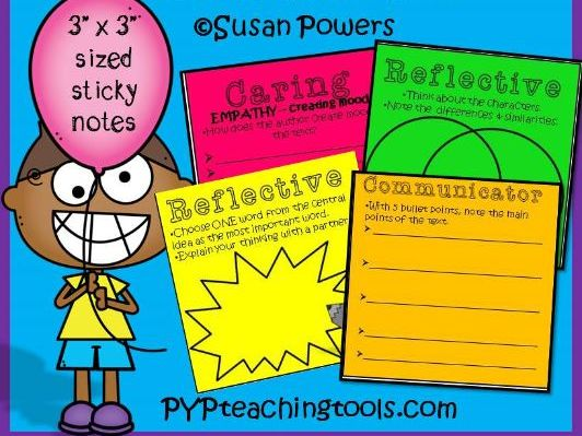 Printable Post Its for Reading Comprehension for Any Text