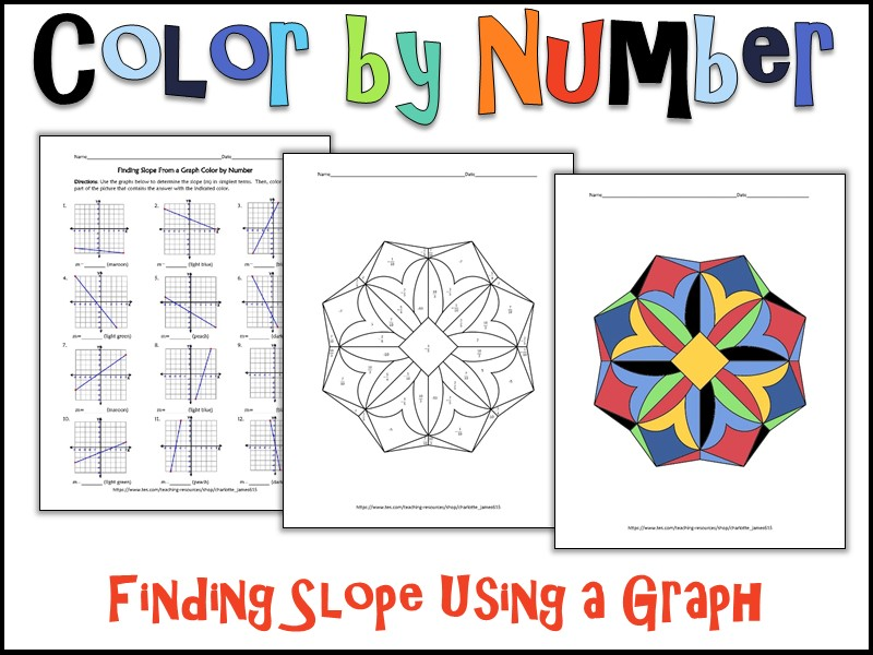 Finding Slope Using a Graph Color by Number by charlotte_james615 ...