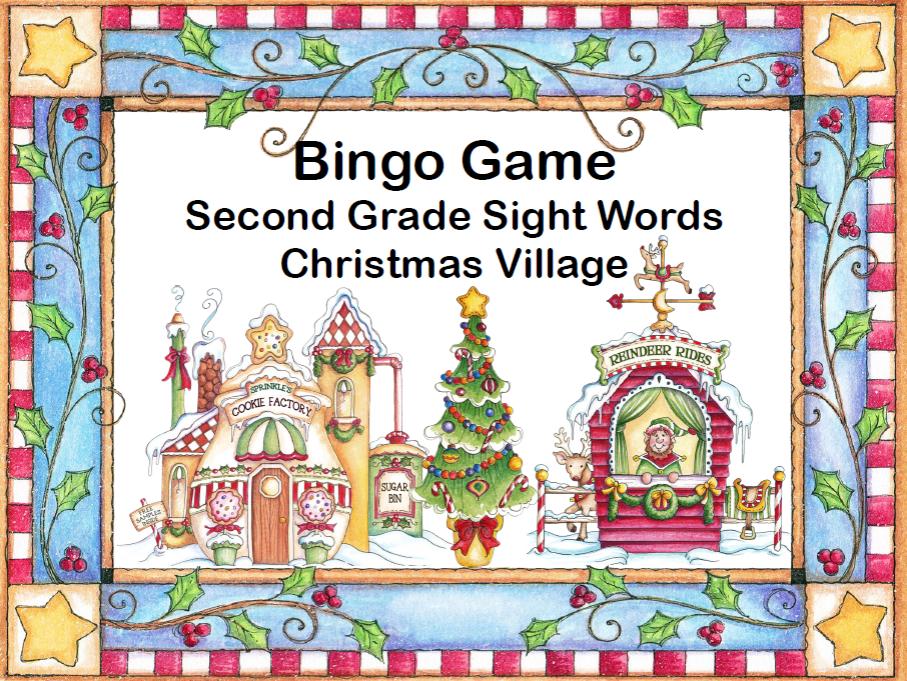 Sight Words for Grade 2-Bingo Game Fun- Christmas Village