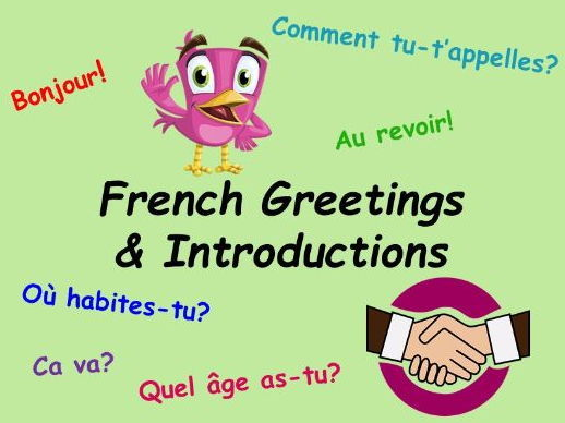 French planning - Autumn full term - Introductions, greetings, numbers & colours.