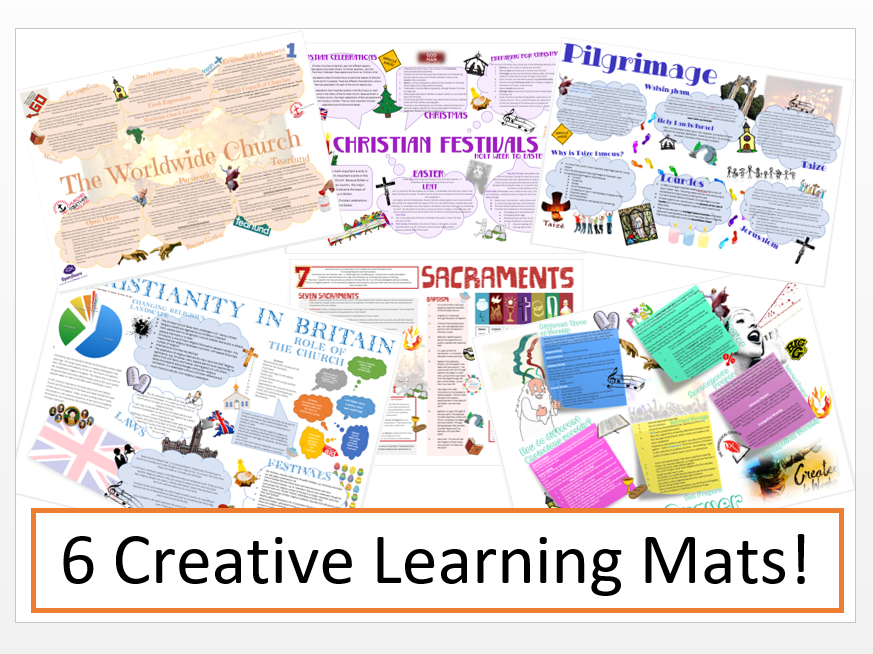 Christianity: Practices Learning Mat Bundle