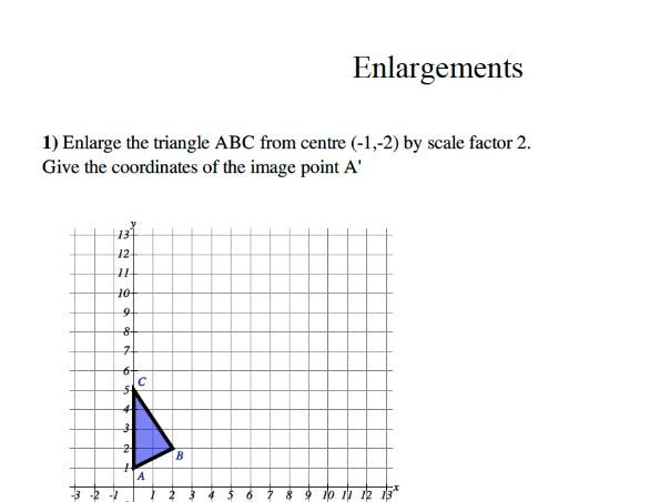 GCSE maths – translations: enlargements