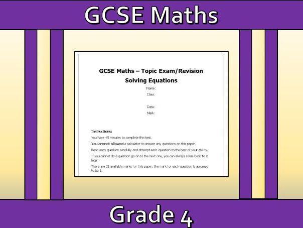 GCSE Maths Solving Equations Revision
