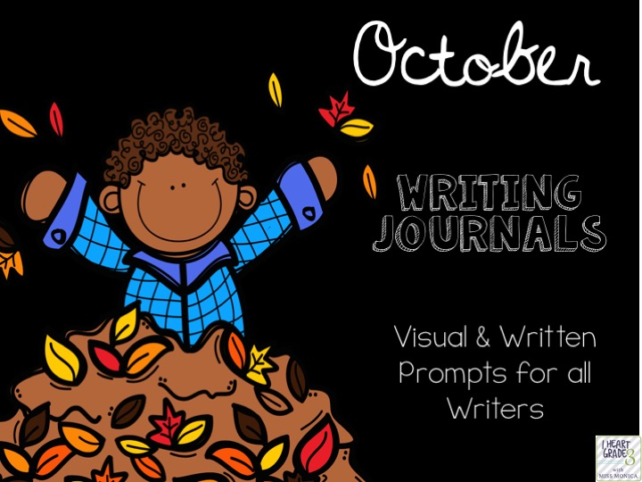 October Journals with Visual & Written Prompts