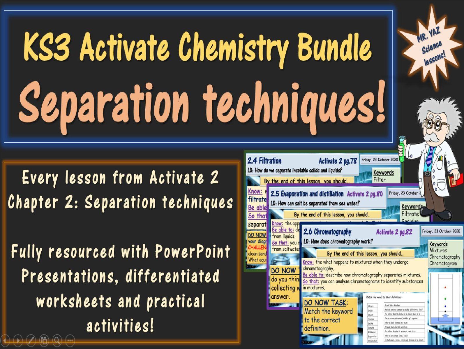 Separation techniques Activate 2 KS3 Science bundle