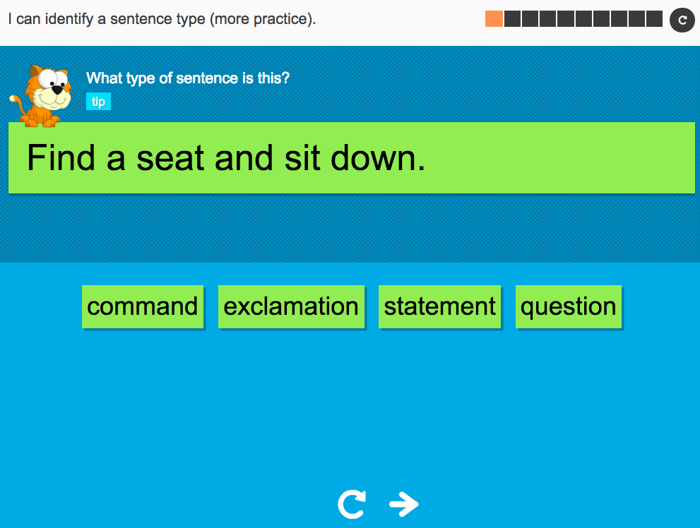 I can identify a sentence type (extension) - Interactive Activity - Year 2 Spag