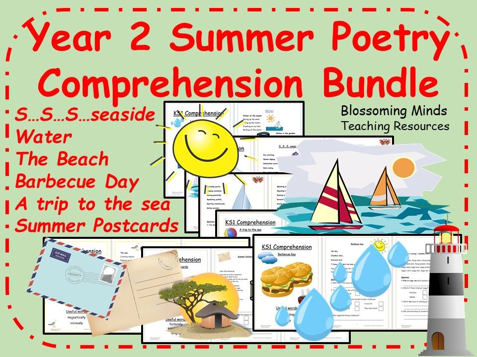 Summer Poetry Comprehension Bundle - Year 2