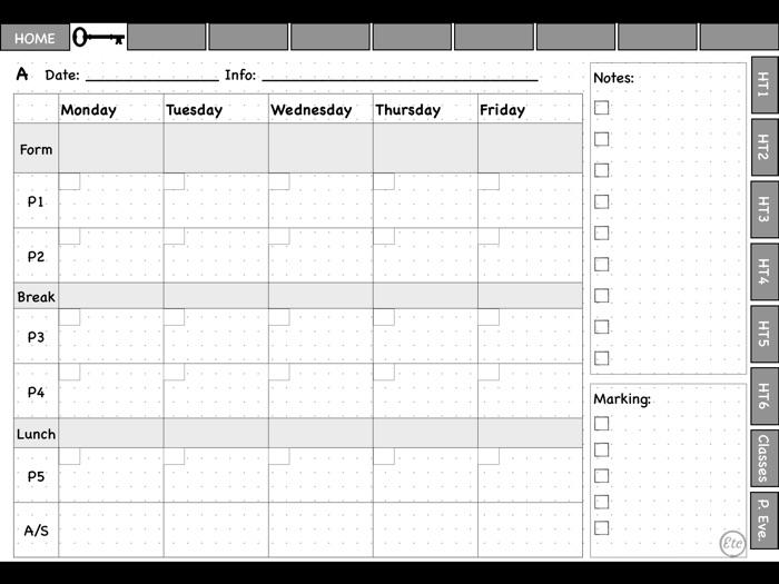 Pdf  teacher planner 2020-21 for GoodNotes or Xodo app