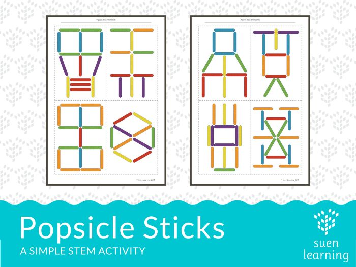 Popsicle sticks - simple STEM activity