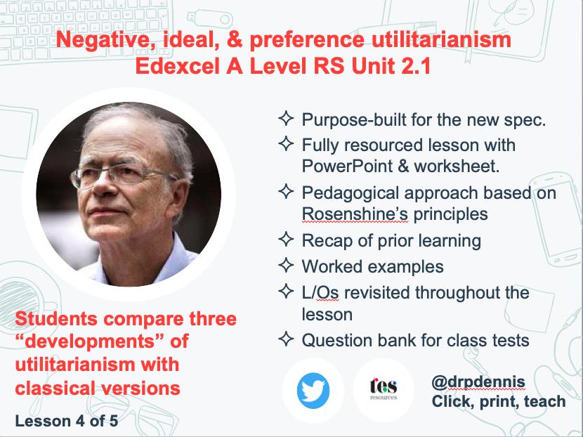 Ideal, negative, & preference utilitarianism (Edexcel new spec)