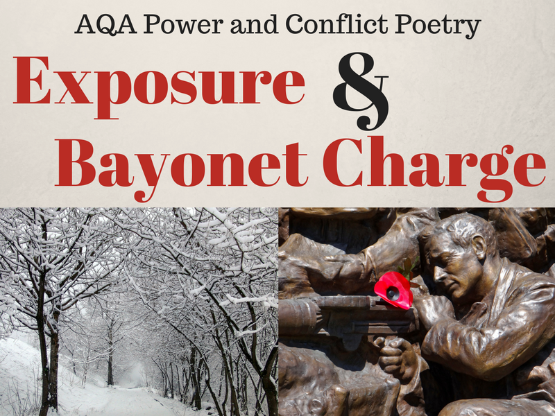 Exposure and Bayonet Charge Comparison - Power and Conflict Poetry - War Poems - Lesson 9