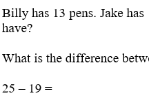 KS1 Subtraction Word Problems (Differentiated)
