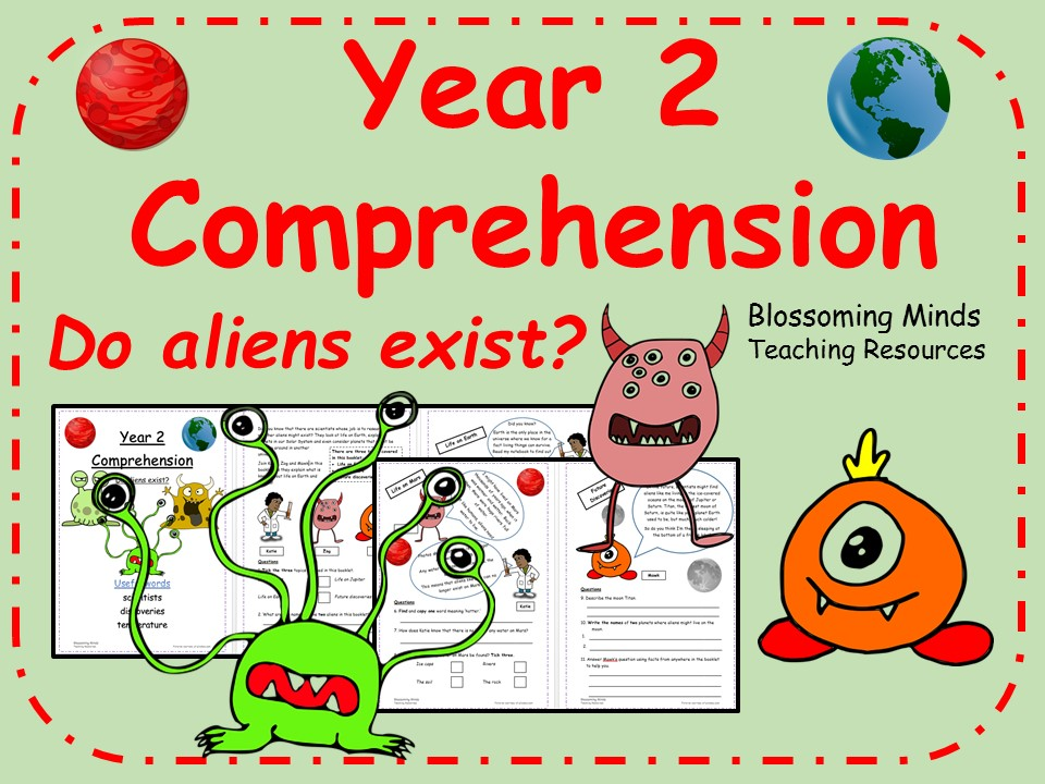 Year 2 World Space Week Comprehension - Do aliens exist?