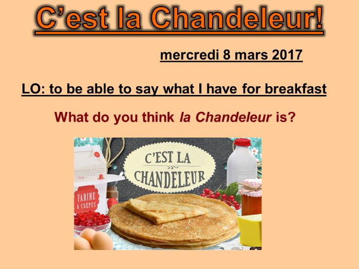 C'est la Chandeleur (3 lessons) - Studio 2 Vert Module 4 Unit 4