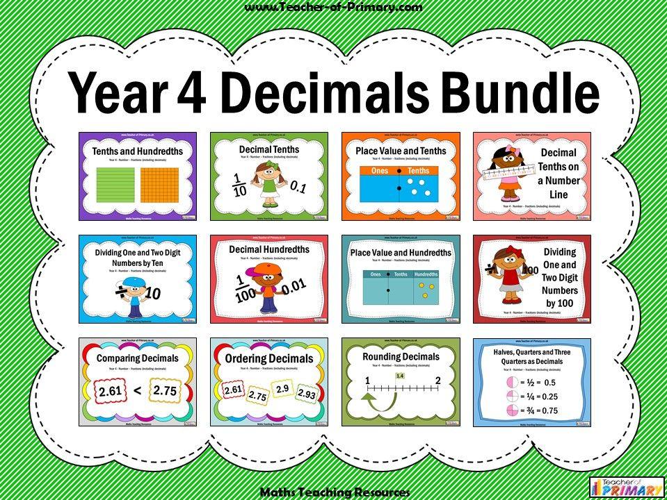 Year 4 Decimals Bundle