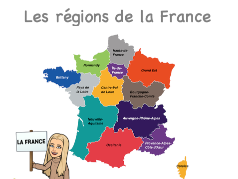 French regions booklet