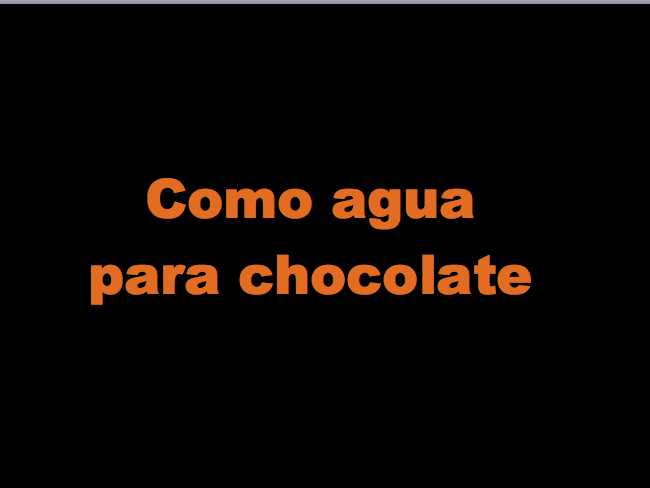 Como agua para chocolate - Ch.1 vocab test/starter/plenary