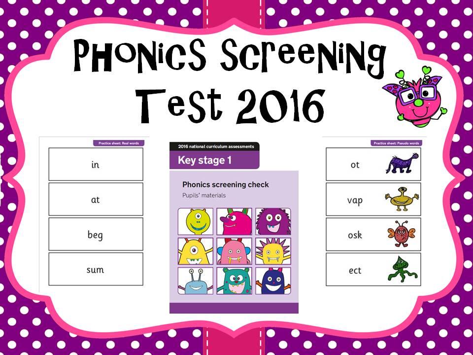 2016 Phonics screening