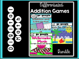 Differentiated Addition Games Digital Resource