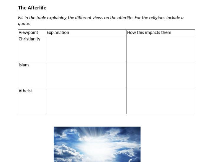 Religion and Life Workbook