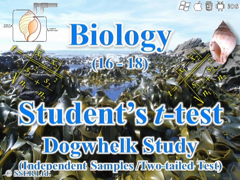3.7.4 Statistics - Rocky Shore Fieldwork - Student's t-Test