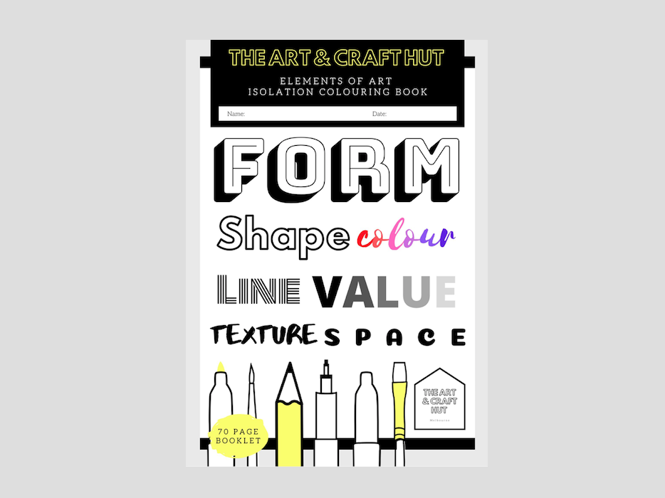 70  Page Elements Of Art Booklet Bundle | Space, Texture, Line, Form, Space, Colour & Value