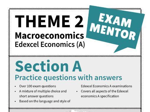 Edexcel Economics (A) -Section A practice questions - MACROECONOMICS
