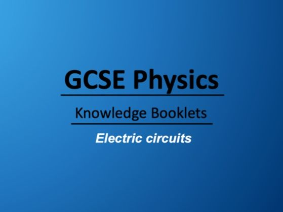 Electric Circuits Knowledge Booklet