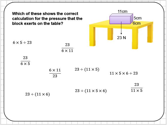 Pressure Reasoning Tasks