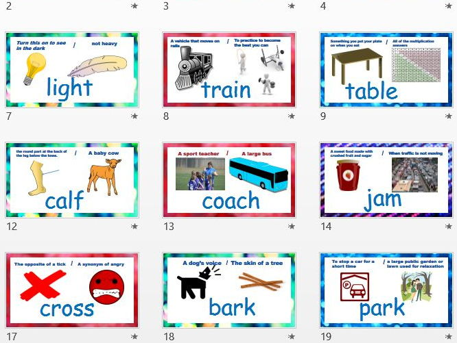 Homonyms, Homographs PowerPoint & Crossword