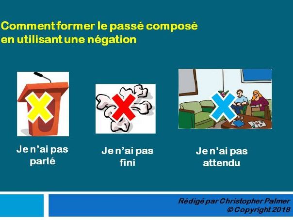 French: General lesson on negatives in the perfect tense
