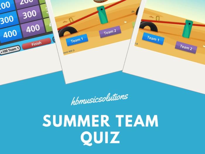 Summer Team Interactive Music Quiz
