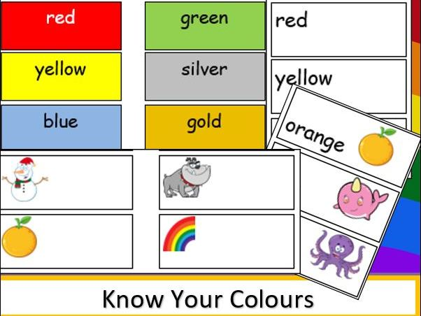 Know Your Colours Word and Picture Cards