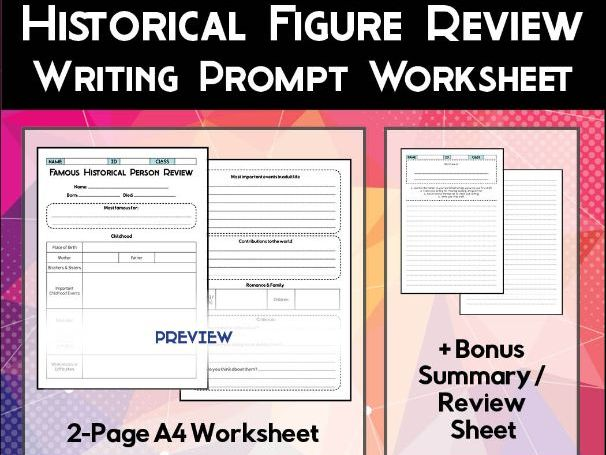 Historical Figure Review Worksheet