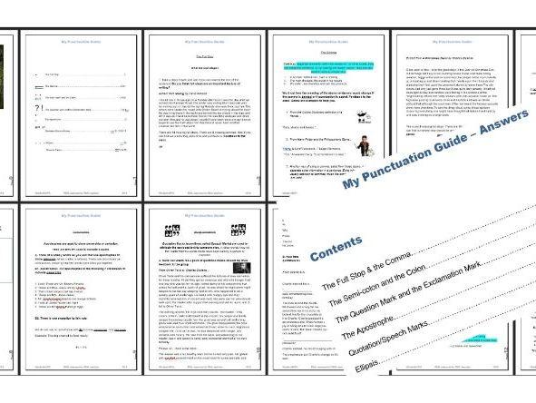 English Language - Punctuation Workbook & Answer Booklet